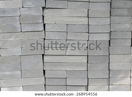 Many concrete blocks piled background pattern. - stock photo