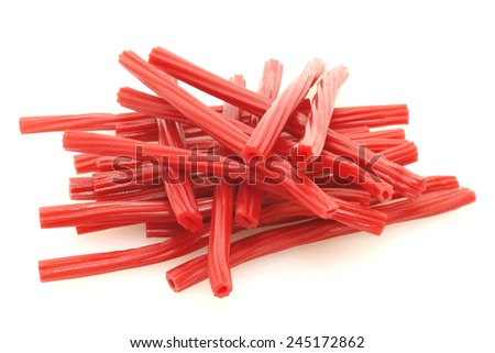 many delicious sweet red licorice twist exquisite