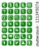 Many different green icons as an illustration for you - stock photo