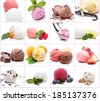 Many different scoops of ice cream - stock photo