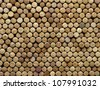 many different wine corks in the background, texture - stock photo
