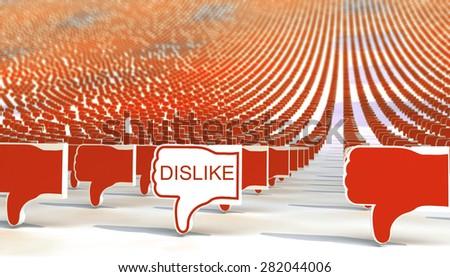 many dislike signs - stock photo