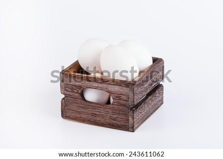 Many eggs in box - stock photo