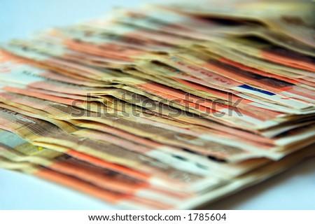 many euro bills - stock photo