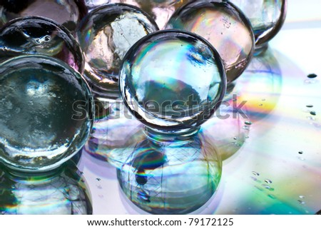 Many gel ball colorful - stock photo