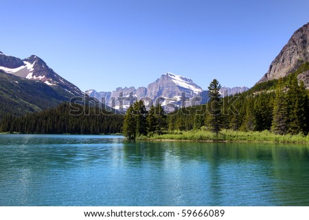 Many Glaciers - stock photo