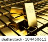 Many Gold bars - stock photo