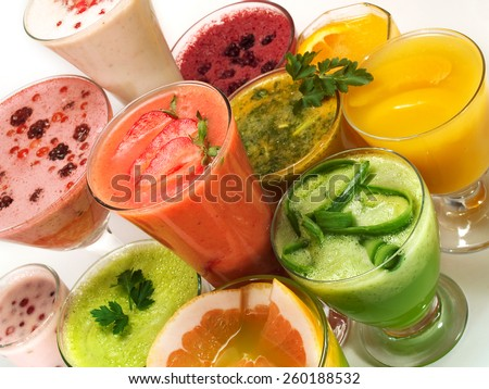 Many healthy drinks