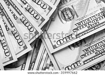 Many hundred dollars cash money as background - stock photo