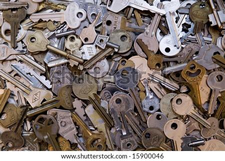 Many keys - stock photo