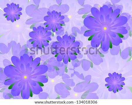 Many lilac flowers beautiful background - stock photo