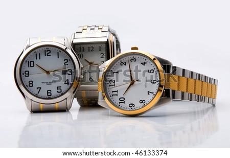 Many men's wrist watch - stock photo