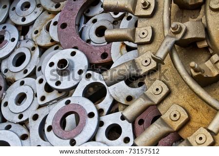 many metal parts - stock photo