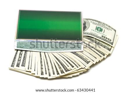 Many money in green box - stock photo