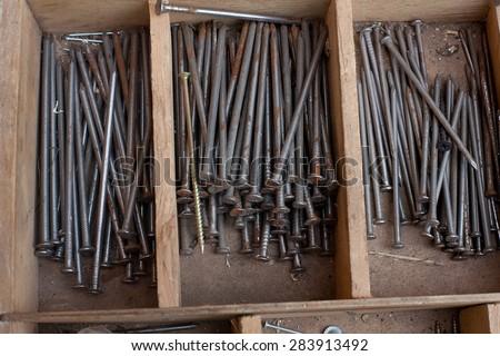 many nails - stock photo