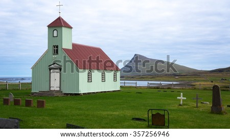 Many of Iceland's churches are dotted around the island in remote spaces. Some are even at the foot of volcanoes.