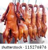 Many of the delicious roast duck - stock photo