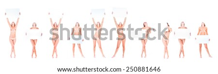 Many of the same Nude Soft Nudity  - stock photo