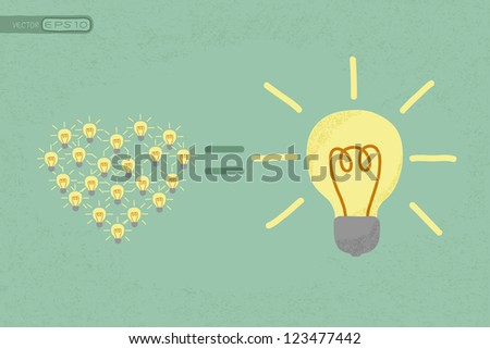 Many small ideas equal a big one idea , eps10 vector format - stock photo