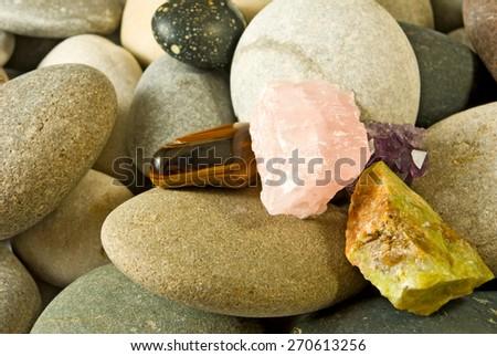 many stones - stock photo