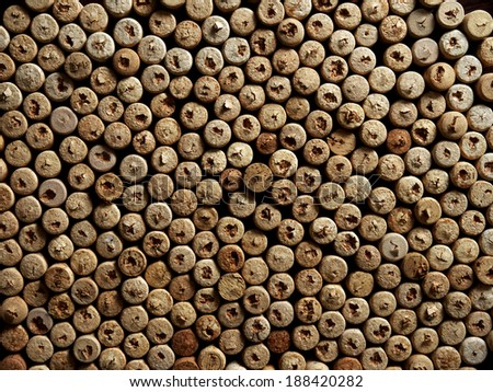 many wine corks from bottles as a background - stock photo