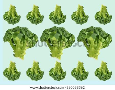 Many yummy broccoli for kitchen  - stock photo