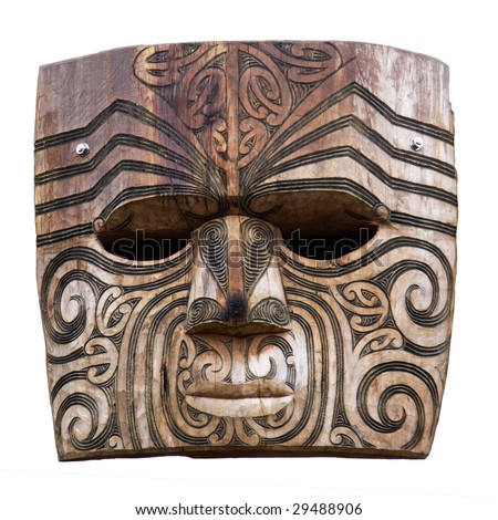 Maori carving - stock photo