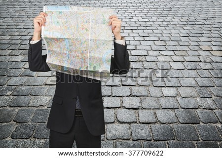 Map. - stock photo