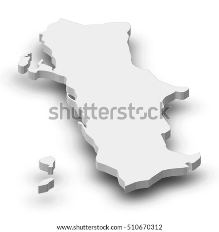 Map Al Hudaydah Yemen 3dillustration Stock Illustration 510670312