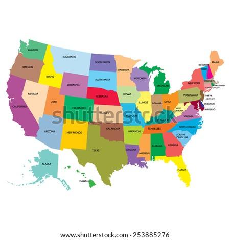 map america - stock photo