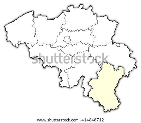 map belgium luxembourg