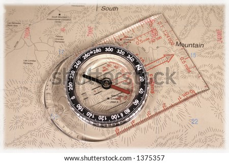 map compass - stock photo