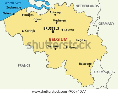 map - Kingdom of Belgium.