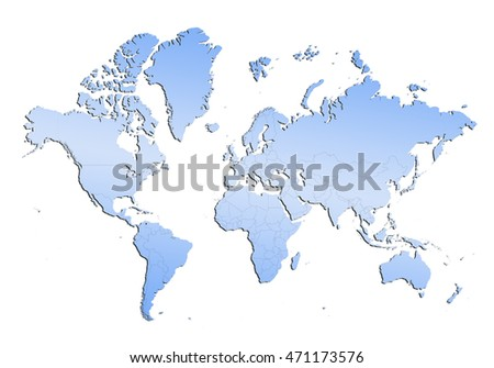 map-map of world on white background.