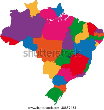 Map of administrative divisions of Brazil
