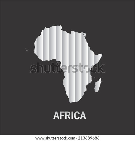 Map of Africa, African Continent Stripes Concept - stock photo