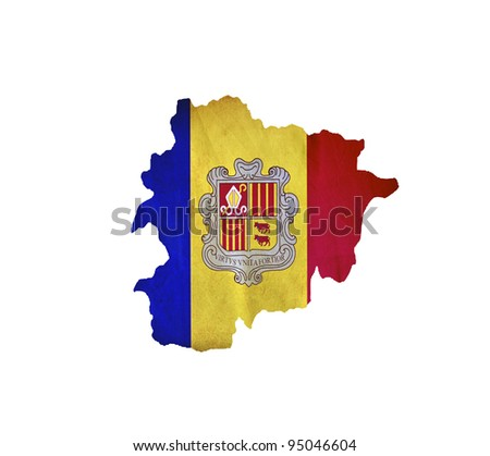 Map of Andorra isolated - stock photo
