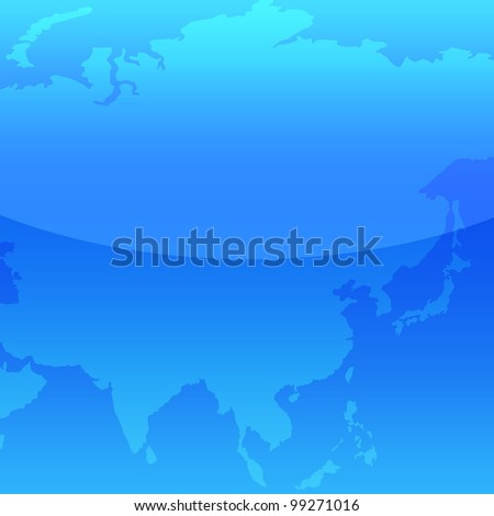 Map of Asia - stock photo