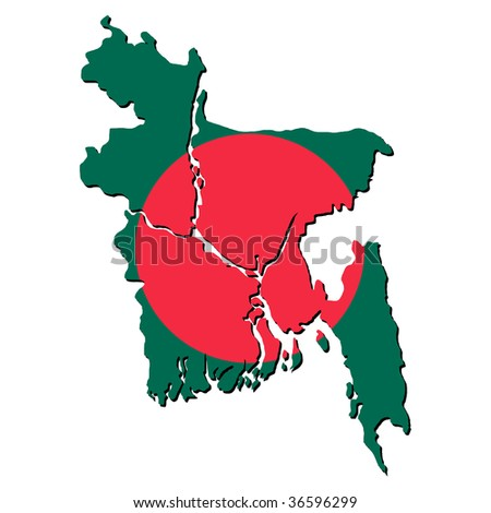 map of Bangladesh with their flag illustration JPEG