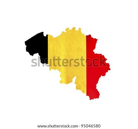 Map of Belgium isolated - stock photo