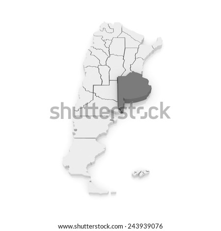 Map of Buenos Aires. Argentina. 3d - stock photo