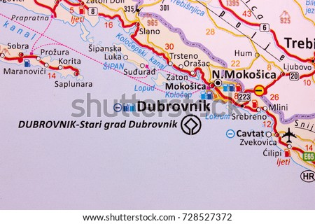Map dubrovnik croatia stock photo safe to use 728527372 shutterstock map of dubrovnik croatia gumiabroncs Gallery
