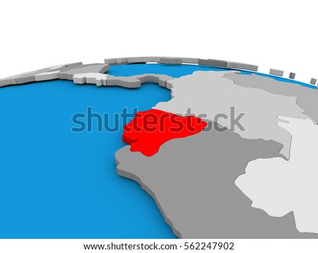 Map ecuador highlighted red on simple stock illustration 562247902 map of ecuador highlighted in red on simple globe 3d illustration gumiabroncs Image collections