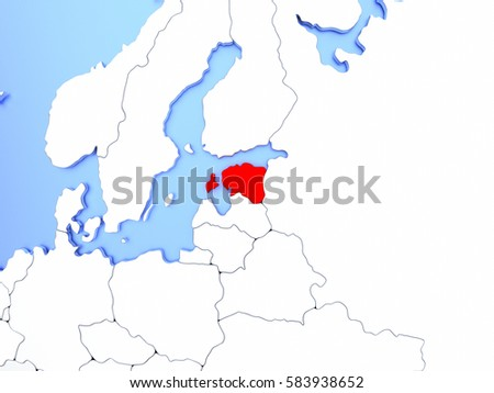 Map estonia highlighted red on simple stock illustration 583938652 map of estonia highlighted in red on simple shiny metallic map with clear country borders gumiabroncs Choice Image