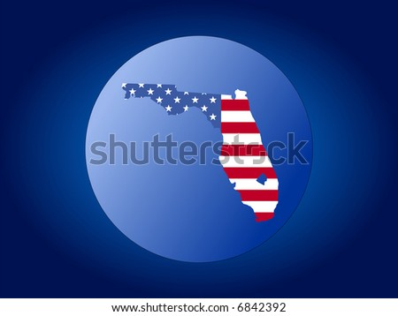 map of Florida and American flag globe illustration JPG