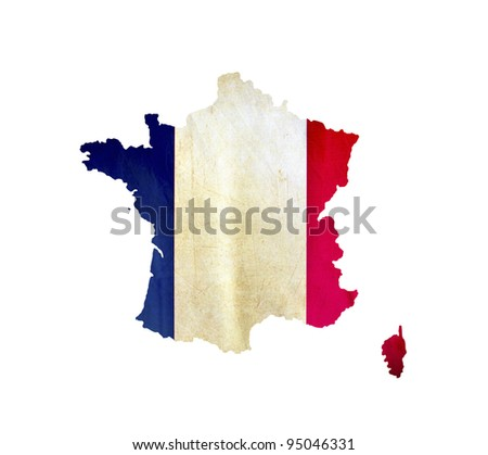 Map of France isolated - stock photo