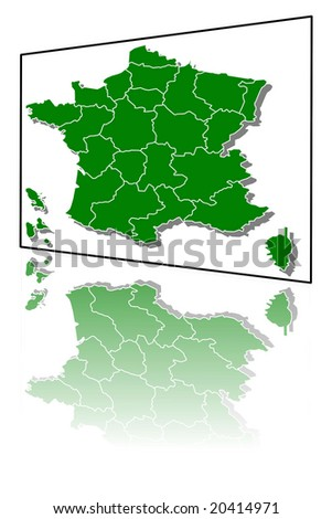 map of france mirror illustration