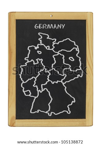 map of germany on a chalkboard