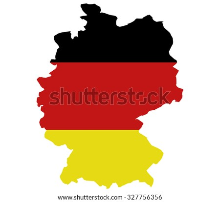map of Germany on white background
