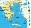 map of Greece - stock vector